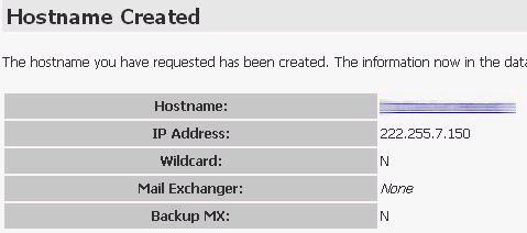 Đăng ký tên miền cho IP động