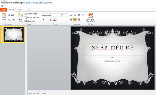 Microsoft chính thức ra mắt Office Web