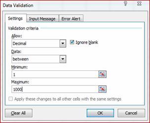 3 phương thức cơ bản để tránh lỗi nhập dữ liệu trong Excel