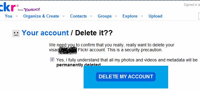 Cách xóa bỏ tài khoản trên 1 website