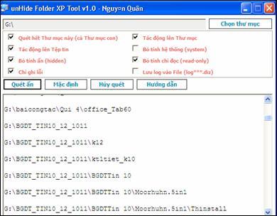 Khắc phục hiện tượng file bị virus ẩn trong explorer