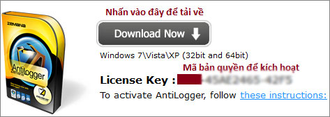Miễn phí bản quyền Zemana AntiLogger