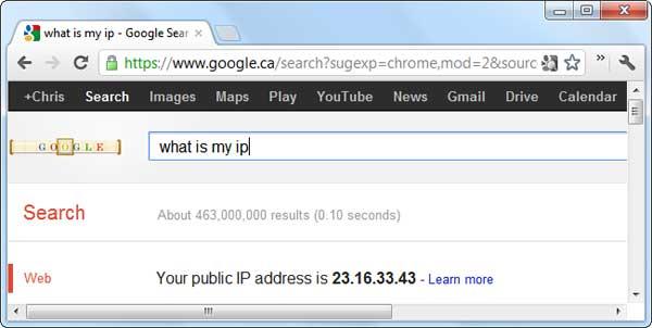 Tìm địa chỉ IP công khai trên Google