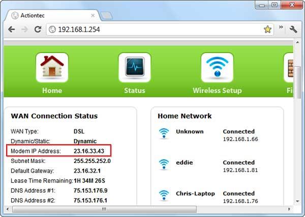 Truy cập trang quản trị của router để xem IP