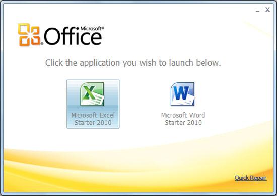 Microsoft ngừng cấp Office Starter 2010 cho PC mới