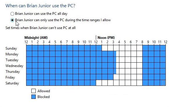 parental controls8 - Tổng hợp về cài đặt và sử dụng Win8