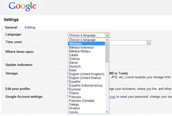 Google Drive bổ sung 18 ngôn ngữ