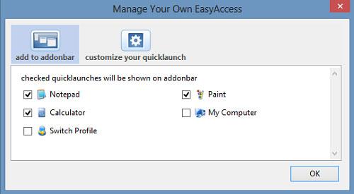 Mở nhanh bất kỳ ứng dụng nào từ thanh trạng thái của Firefox
