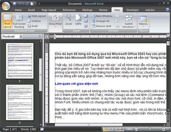 đọc word 2007 trên 2003