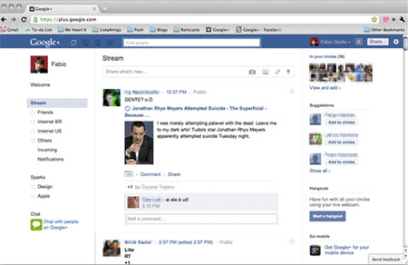 Biến giao diện Facebook thành bảng tính Excel