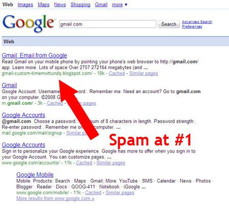 Kết quả tìm kiếm của Google bị đổi hướng