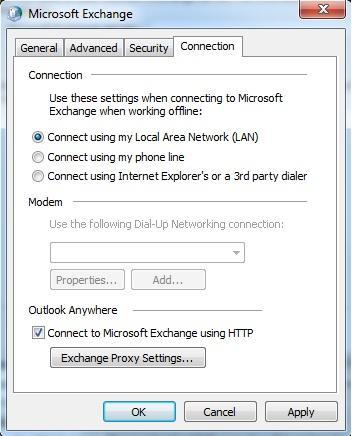 Mở nhiều hòm thư của Exchange Servers với Outlook 2010