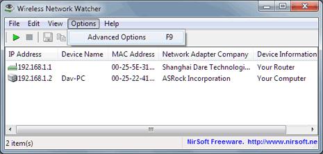 Kiểm soát máy tính kết nối vào mạng không dây với Wireless Network Watcher