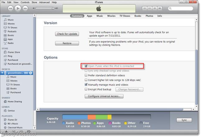 Ngăn iTunes hoạt động khi kết nối iPhone hoặc iPod