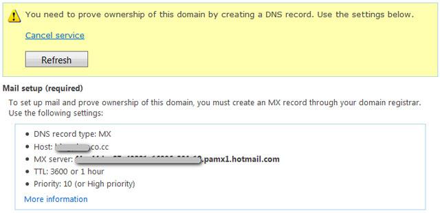 Sử dụng kết hợp giữa Byethost, Co.cc và Windows Live Hotmail