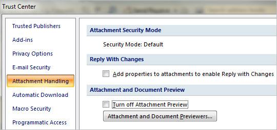 Xem nhanh tệp tin đính kèm trong Outlook