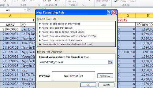 Vài thủ thuật nhỏ khi làm việc với Excel