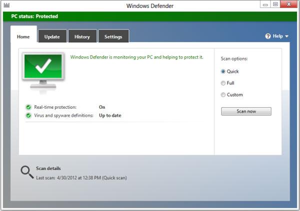 Chọn phần mềm chống virus cho Windows 8