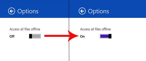 Cách truy cập Offline file SkyDrive trong Windows 8.1