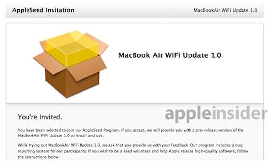 Apple phát hành bản cập nhật WiFi MacBook Air 2013