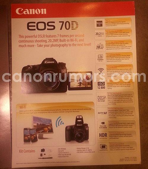 """Ảnh Canon 70D tích hợp Wi-Fi, cảm biến 20,2 """"chấm"""""""