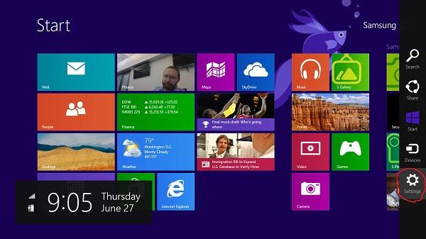 Đặt slideshow ảnh trên màn hình khóa Windows 8.1