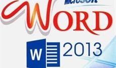 Thay đổi nhanh vị trí một hàng trong bảng Word 2013