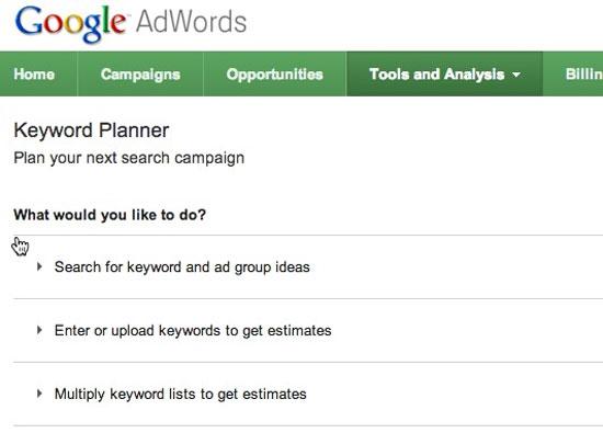 5 tính năng mới của Google AdWords năm 2013
