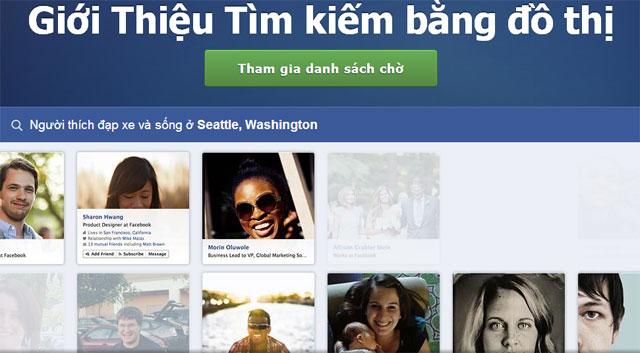 Mạng Facebook phát hành công cụ Đồ thị tìm kiếm