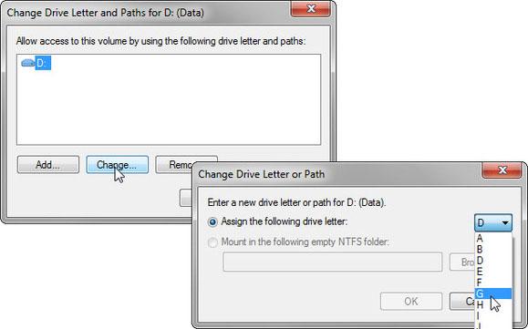 Cách thay đổi các ký tự ổ đĩa trên Windows 7