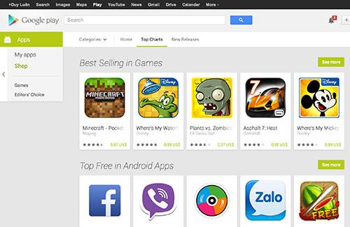 Google làm mới giao diện kho nội dung Play nền web theo phong cách Android
