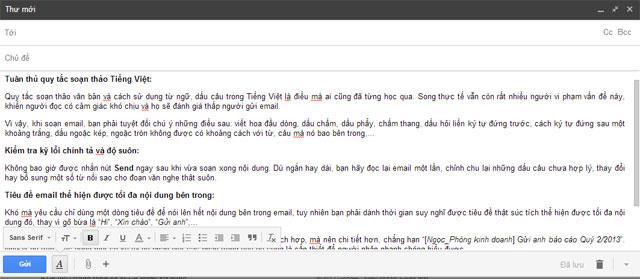 Kinh nghiệm soạn email thật tinh tế