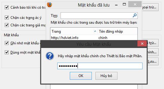 Bảo mật và quản lý mật khẩu đã lưu trên Firefox