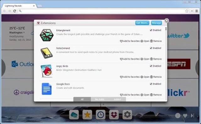 Nâng cấp thẻ Newtab của Chrome lên một tầm cao mới