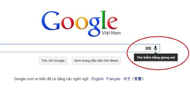 Tìm kiếm Google bằng giọng nói tiếng Việt qua Chrome