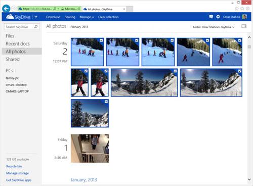 SkyDrive hỗ trợ xem ảnh động