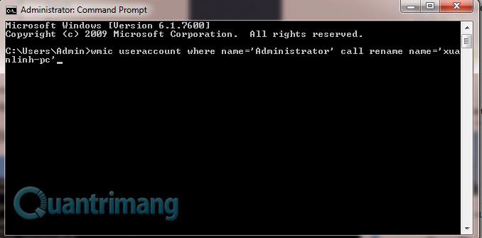 Làm thế nào để thay đổi tên tài khoản Administrator trong Windows?