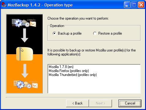 Những tiện ích miễn phí sao lưu email MozBackup