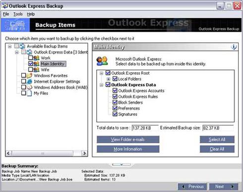 Những tiện ích miễn phí sao lưu email Outlook-Express-Backup1