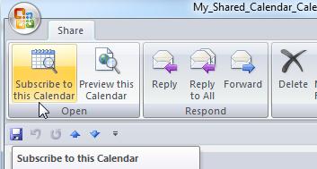 Sử dụng và chia sẻ Calendar trong Outlook 2007