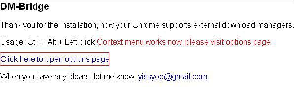 Tích hợp trình hỗ trợ download vào menu chuột phải của Chrome