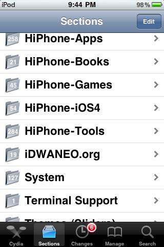 Hướng dẫn sử dụng Cydia cho người sở hữu iPhone
