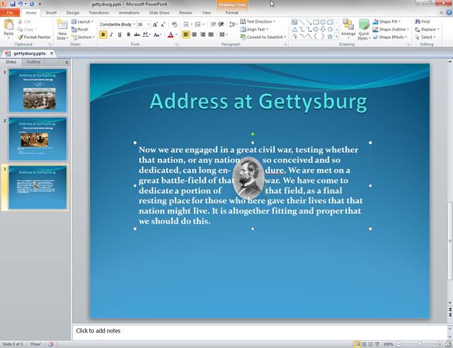 Lỗi PowerPoint không chạy chữ quanh hình