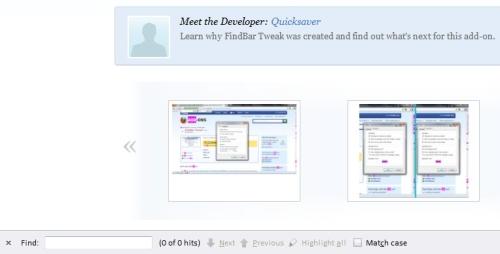 Tìm kiếm nội dung trên trang hiệu quả hơn trên Firefox