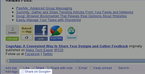 Hướng dẫn tích hợp Google Reader với Google+