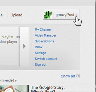 Liên kết tài khoản YouTube với tài khoản New Google