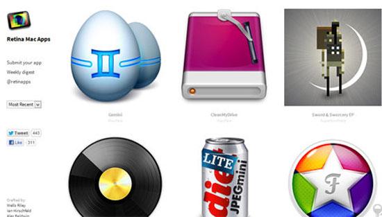 Ứng dụng hỗ trợ màn hình Retina cho MacBook mới