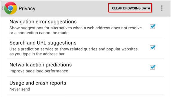 Hình ảnh Xóa lược sử duyệt Web trên thiết bị Android số 3