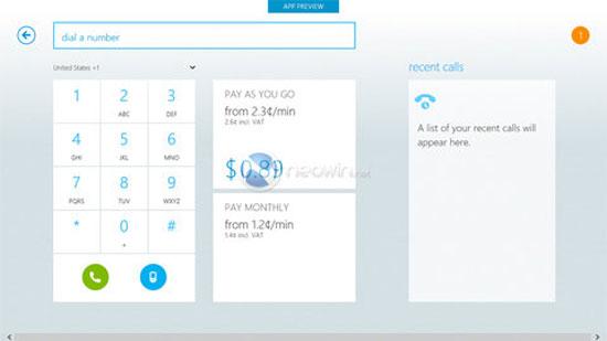 Phiên bản Skype cho Windows 8 lộ diện