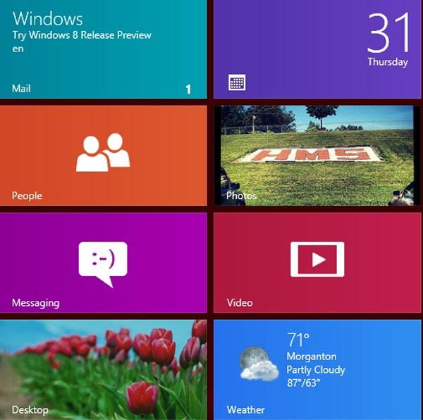 Những điểm được yêu thích trên Windows 8